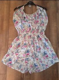 NEW miso floral playsuit size 14