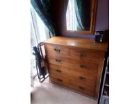 Old wooden chest of drawers 1980s