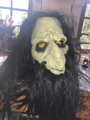 Mens Long Hair Halloween Costumes (Scary Halloween Mask with Long hair and beard)