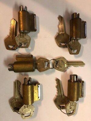 Corbin Rim Core Cylinders Lot Of 5 Keyed