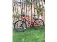 Ladies Bike Pinnacle Cobalt 3 Excellent Condition Orange 43CM 5ft 3 in to 5ft 6in
