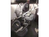 Silver cross 3d travel system pushchair car seat changing bag