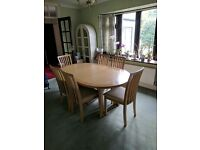 Dining Table & 6 Chairs, great condition.