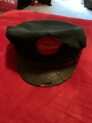 1950's, Coca-Cola, Vintage Green Delivery Man Hat (Scarce / Vintage)