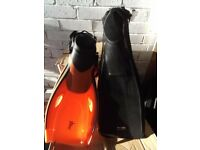 Perfect new scuba fins for any waters and climate. (Choice of two) your choice.