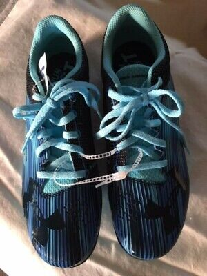 Under Armour Kick Sprint Track Woman 1297114 448 Blue Size 8.5 NO SPIKES