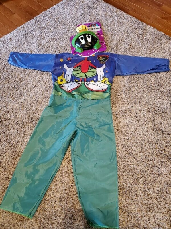 1994 Vintage Looney Tunes Marvin the Martian Halloween costume RARE NEW