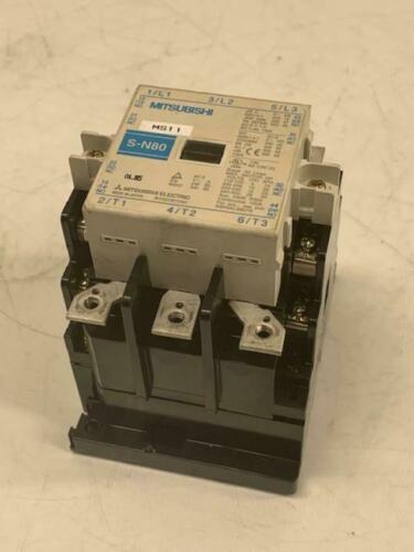 Mitsubishi Electric Magnetic Contactor, Type S-N80, 100-127V Coil, Used Warranty