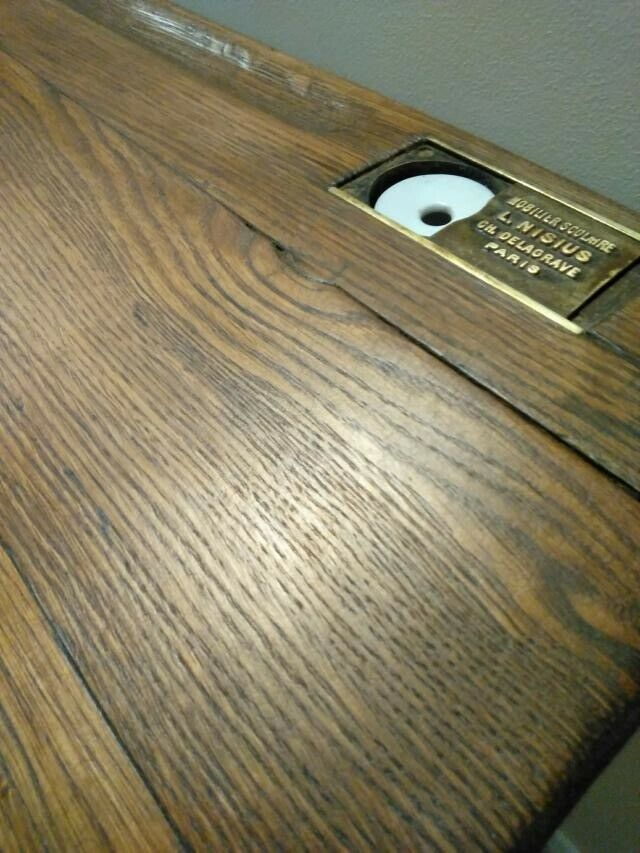 Cool Vintage Oak Double School Desk Hall Table Cast Iron Base In Cleckheaton West Yorkshire Gumtree Download Free Architecture Designs Xoliawazosbritishbridgeorg