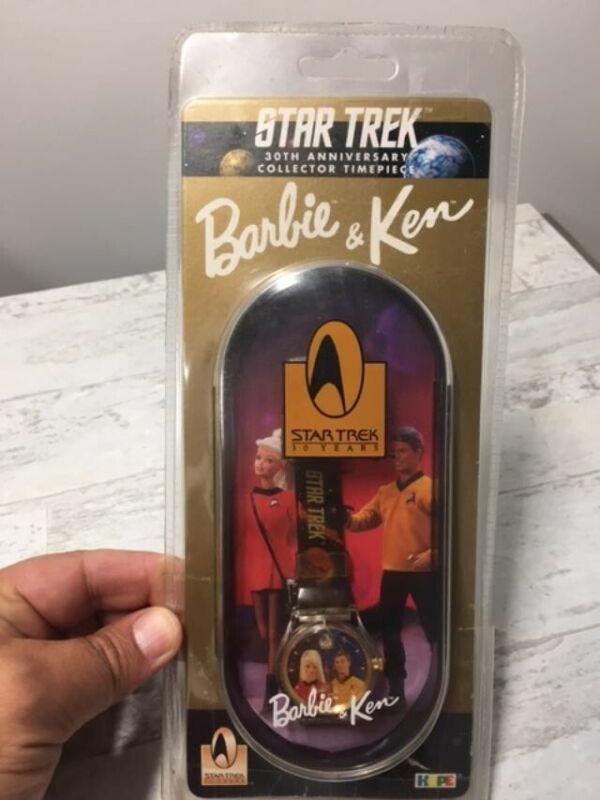 Star Trek 30th Anniversary Barbie & Ken Collector timepiece watch 1996