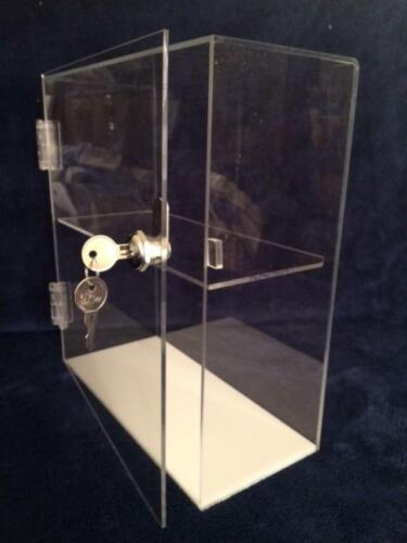 Acrylic CounterTOP Display Case 10 x 4.5 x 11.5 with hinged door and key lock