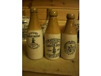 WANTED - Old pottery Scottish Ginger Beer bottles pot lids and cream pots.