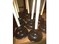 40 Heavy duty catering plungers unblock any sink
