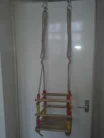 Baby, toddlers 1970s 1980s garden swing, strong and sturdy