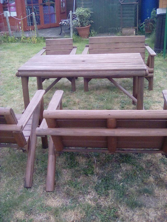 GARDEN FURNITUREin Brandon, SuffolkGumtree - Selling my table and 2 x seater and 2 x single seats. I have sizes if asked for. You will need a van or pick up truck ,very heavy