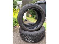 2 winter tyres BRIDGESTONE 195/50R16 BLIZZAK