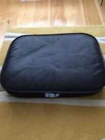 BLACK LEATHER DOG BED NEVER USED