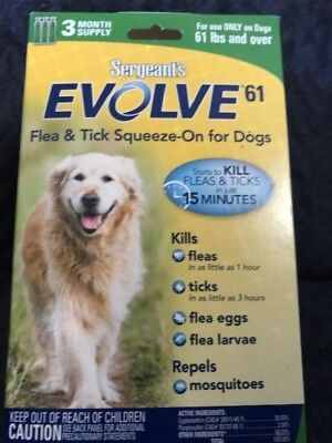 jrod 4 pk of Evolve Squeeze on  Flea and Tick remedy for Dogs 60 and over lbs