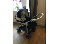 CAM Italian 3 Piece Pushchair with matching bag. INCLUDES CAR SEAT AND IMMACULATE COT!!!