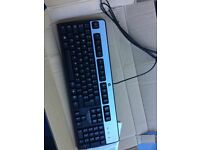 NEW SEALED HP Keyboard KB- 0316-ps/2 Wired PC Keyboard Silver/ Black