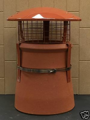Chimney Bird and Rain Cowl with Square mesh. Solid fuel / Wood with Strap fix  Solid Fuel Chimney