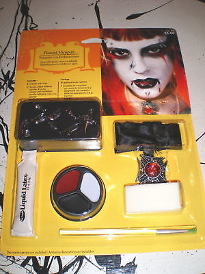 PIERCED VAMPIRE Costume ACCESSORY MAKEUP Set Faux Piercings NOS