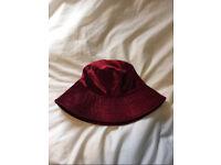 Topshop Velvet Bucket Hat