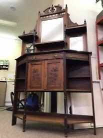 Antique Dresser Shelving Server Cupboard Sideboard Dresser