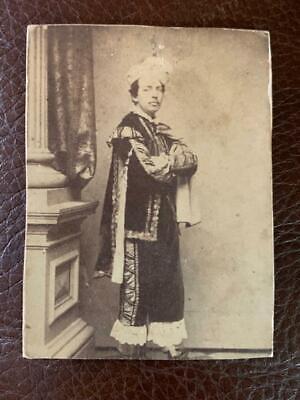 Antique CDV Photo Civil War era Man in Costume Uniform Actor New York Holmes