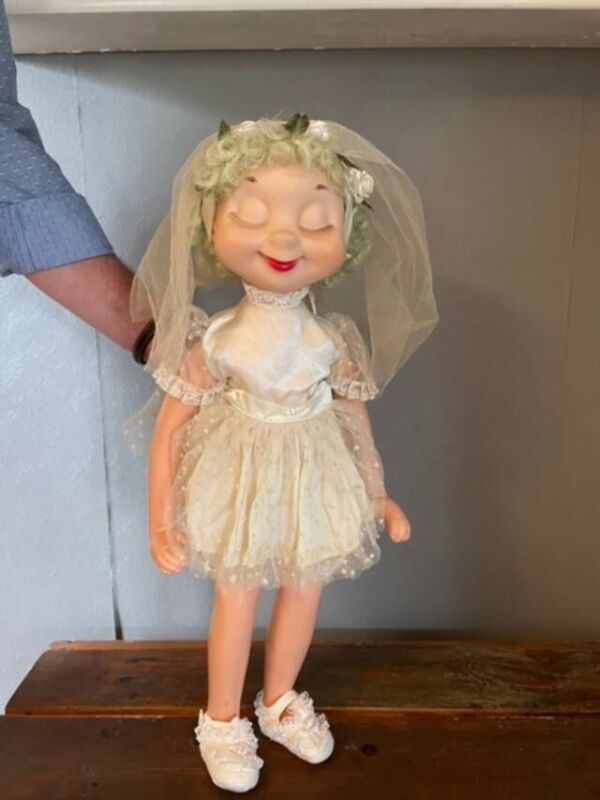 Whimsie Doll-Bessie The Bashful Bride - Vintage American Character 1960