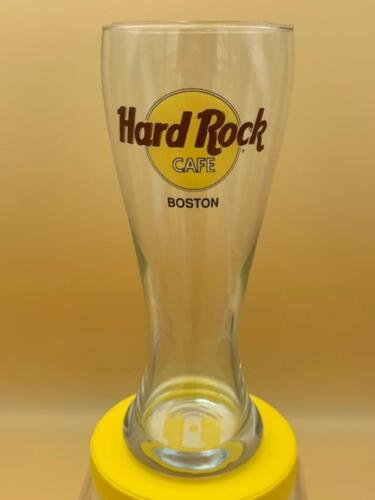 Hard Rock Cafe Boston Tall Large Souvenir Pilsner Beer Glass Pint Size Heavy