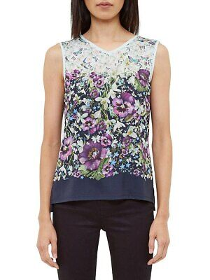 New Ted Baker Enchantment Vest Tee Top. RRP£59. Size Uk 10 (2)