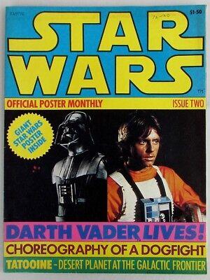 - 1977 STAR WARS OFFICIAL POSTER MONTHLY # 2 vintage original Darth Vader magazine