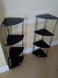 Pair of corner display stands