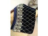 FANCY BLACK Velvet Shawls