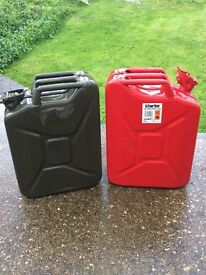 two jerry cans