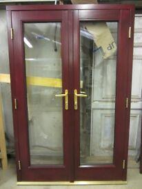 BRAND NEW MAHOGANY UPVC FRENCH DOORS 1600MMX2100MM SUPPLY ONLY