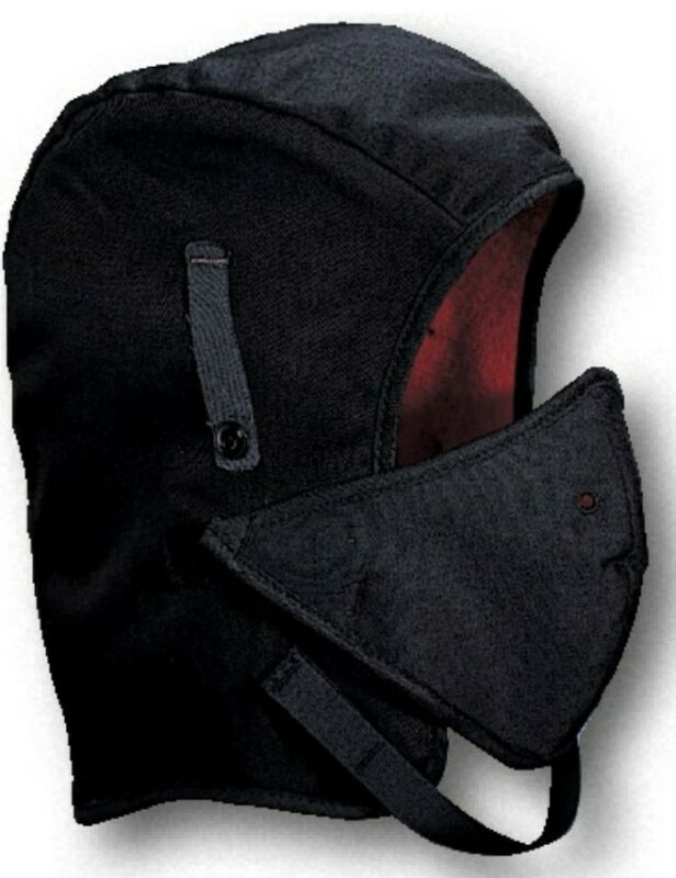 Kromer Mutual WL4-250V Hard Hat Liner. Twill, Long Nape, w/Detachable Face Mask.