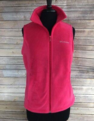 Columbia Women's Medium Pink/Coral Fleece Zipper Vest Like New ()