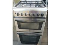 Indesit Dual fuel cooker, Stainless steel, 50cm, Excellent condition. Bargain. No offers