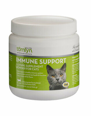 Lysine Powder Supplement for Cats and Kittens eye function respiratory health