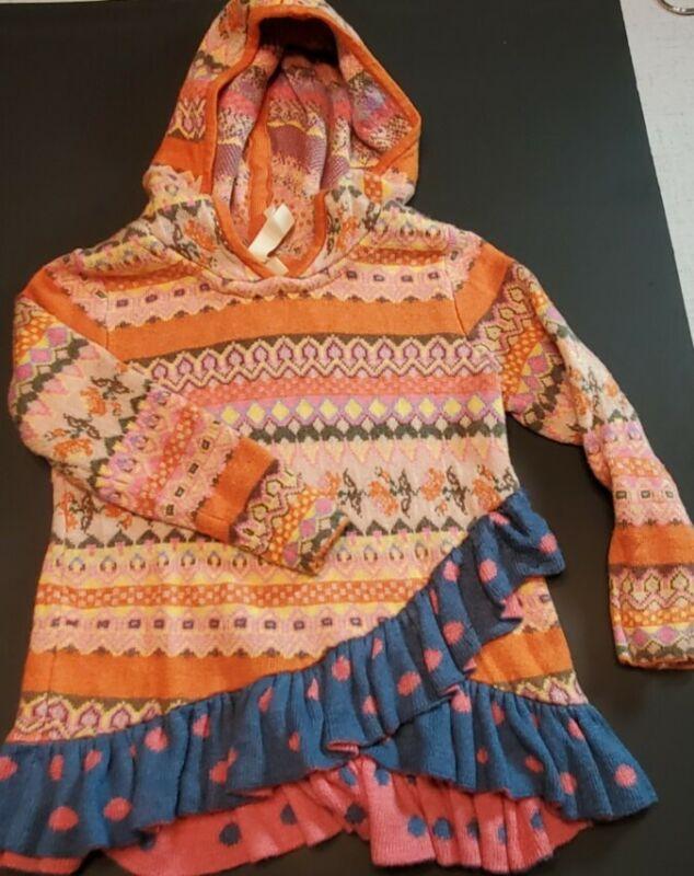 Maltilda Jane Hoodie Long Sleeve Ruffle Sweater Size 2 26128T