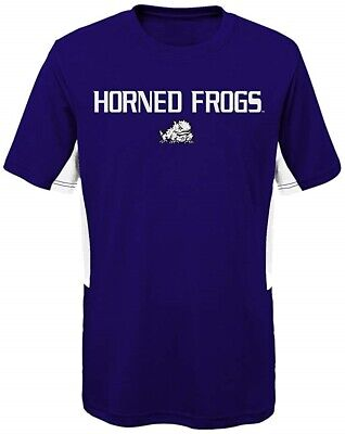 NCAA TCU Horned Frogs Official Apparel Performance Tee Youth Kids Size M 10/12  - Tcu Apparel