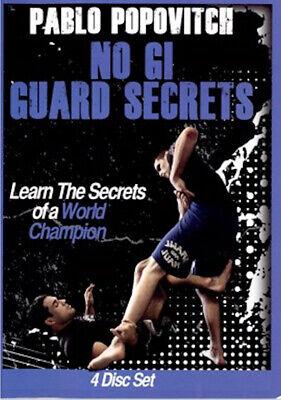 Pablo Popovitch No Gi NOGI GUARD SECRETS 4 DVD Training Jiu Jitsu BJJ MMA B449