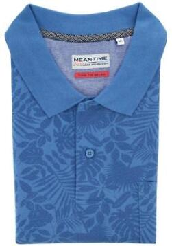 Meantime poloshirt big men fit tropical blue_XXL
