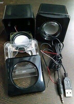 DIY Mini Audio Amplifier Housing Box Cabinet , 3W Subwoofer Speakers & cable set for sale  DELHI
