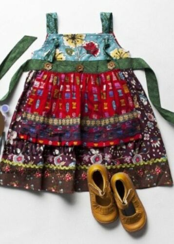 ~ MATILDA JANE~Paint By Numbers~ Crafty Knot Apron Dress~ SZ 18 M~NWOT~