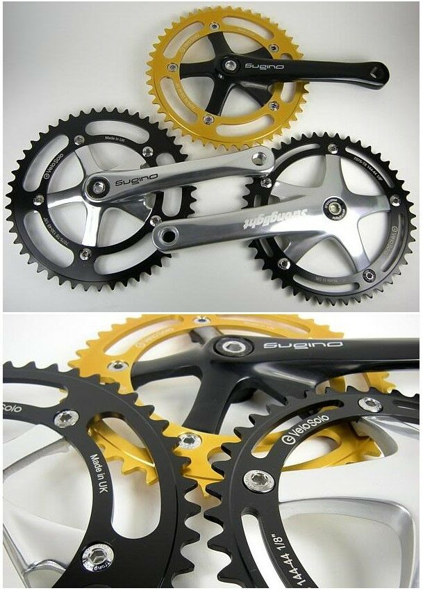 48T BCD:130 Chainring Chain Ring Track Fixie Single Speed Bike black anodised