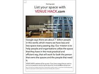 Make money from your spare space in your home! Venue Hack will revolutionise the use of space