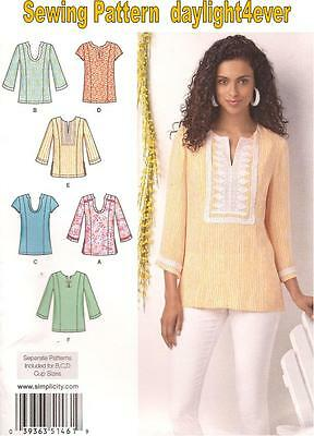 Women Top Tunic 6 Styles Sewing  Pattern 1461 Simplicity New Size  10-18 (Women Styles)